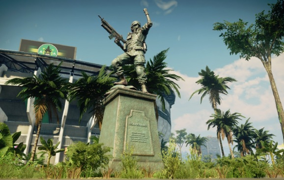 Just Cause 4's spring update has destructible statues.