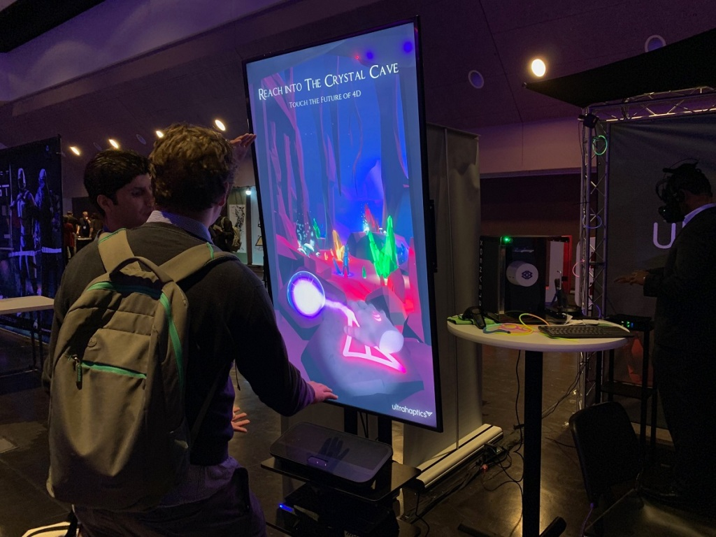 Ultrahaptics and Leap Motion combined their technologies at AWE 2019.