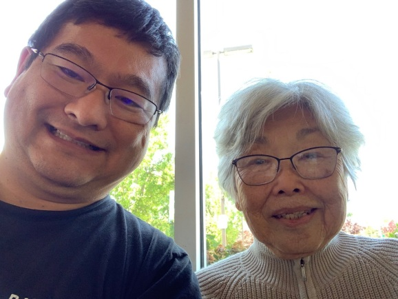 Dean Takahashi and his mother Hiroko.