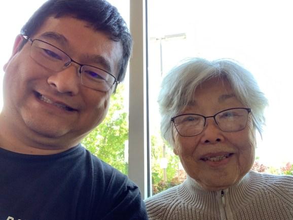 Dean Takahashi and his mother Hiroko.