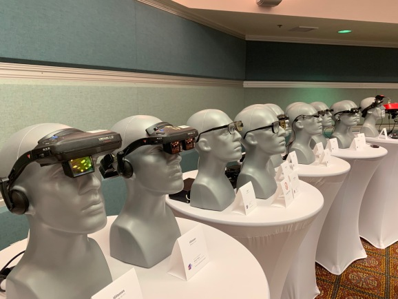 The augmented reality museum display at AWE 2019.