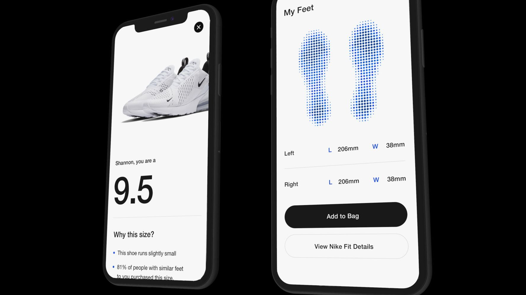 iPhone app will use AR to fit shoes