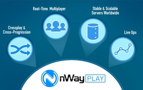nWayPlay will help smaller game developers launch real-time online games.