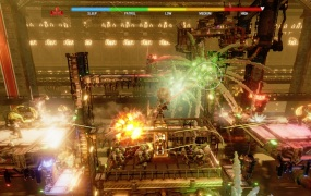 Oddworld: Soulstorm is full of flashy graphics and explosions.