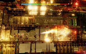 Oddworld: Soulstorm is a 3D sidescroller action game.