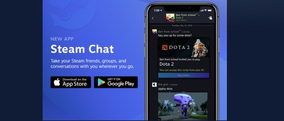 The new Steam Chat mobile app is a modernized Steam chat experience available for free on iOS and Android platforms.