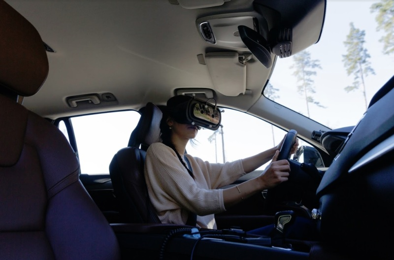 Varjo's XR-1 headset lets you drive with AR viewing.