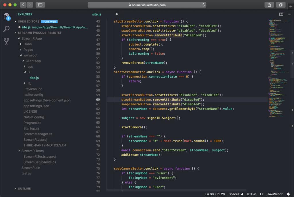 Visual Studio Online screenshot