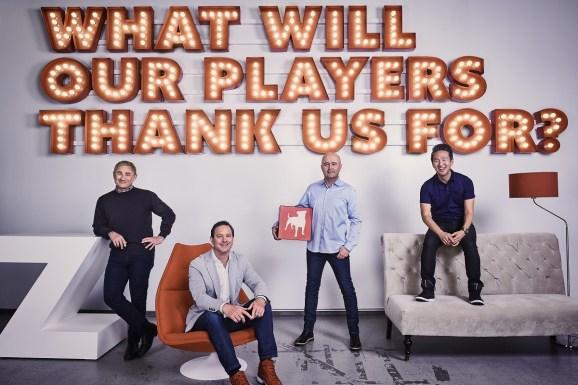 Zynga execs (left to right): Frank Gibeau, Matt