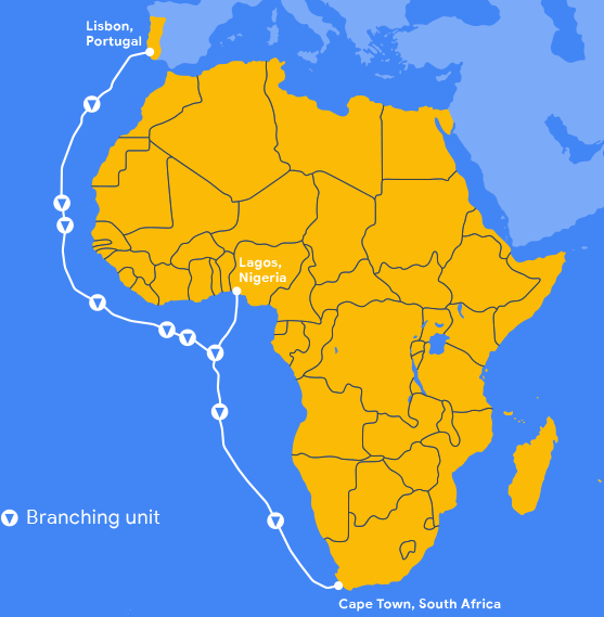 Google announces Equiano, a privately funded subsea cable