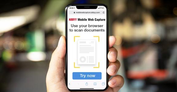 Abbyy: Mobile web capture SDK