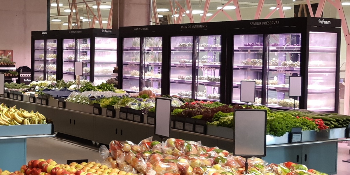Infarm @ Auchan, Luxembourg