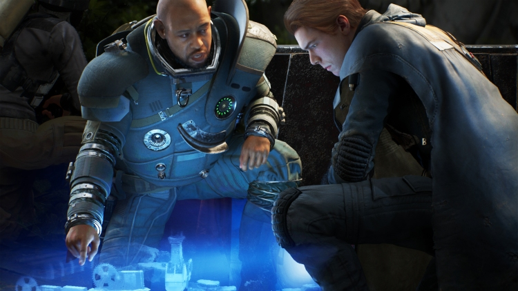Cal consults with Saw Gerrera.