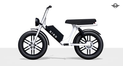 Bird's Cruiser is a two-seater electric bike with a 52-volt