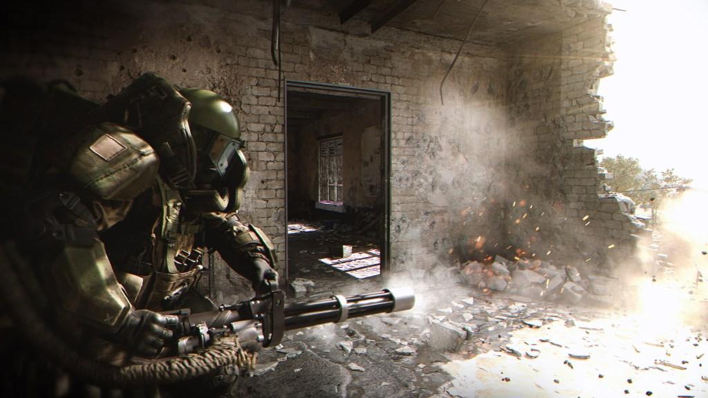 Call of Duty Modern Warfare multiplayer minigun