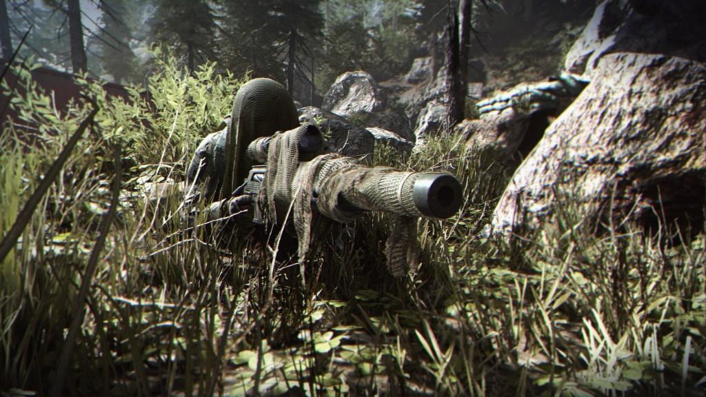 Think this sniper has enough camo?