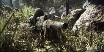 Think this sniper has enough camo?