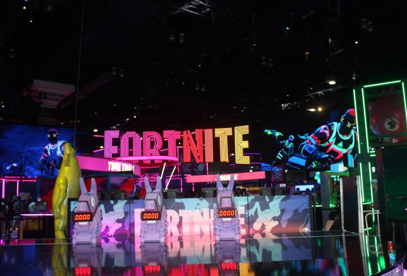 Fortnite booth at E3 2019