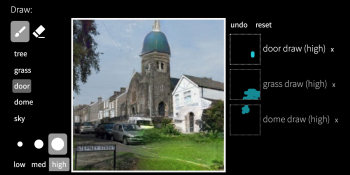 GAN Paint Studio uses AI to add, delete, and modify objects in photos