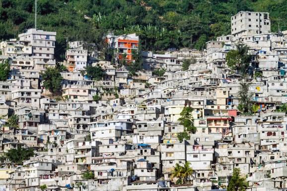 Haiti, Port au Prince, Petionville, informal hillside housing