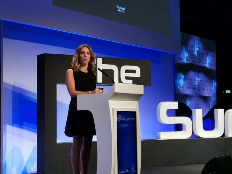 Nicola Mendelsohn, Facebook VP EMEA, speaking at AI Summit (London) 2019