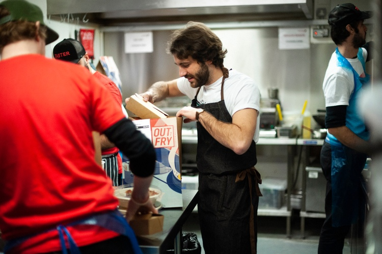 Taster CEO and founder Anton Soulier in the kitchen.