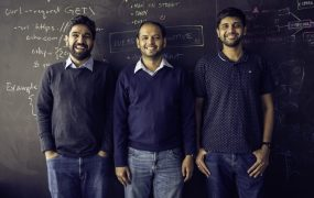 Postman cofounders (l to r): , Abinav Asthana