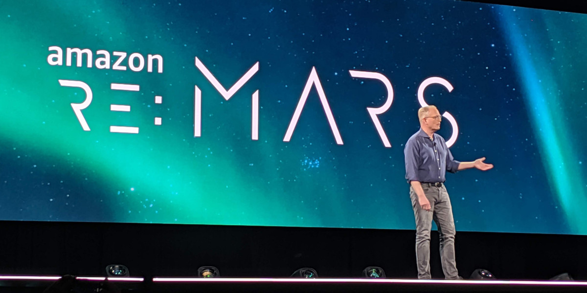Amazon VP of devices David Limp onstage at the re:Mars conference held at the Aria Resort and Casino in Las Vegas on June 4, 2019