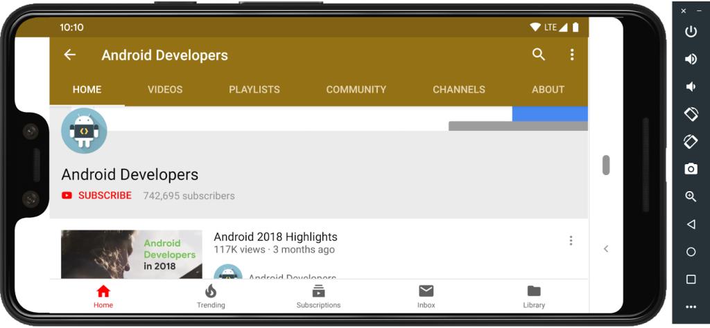 Android Q Beta 4 -- Android Emulator