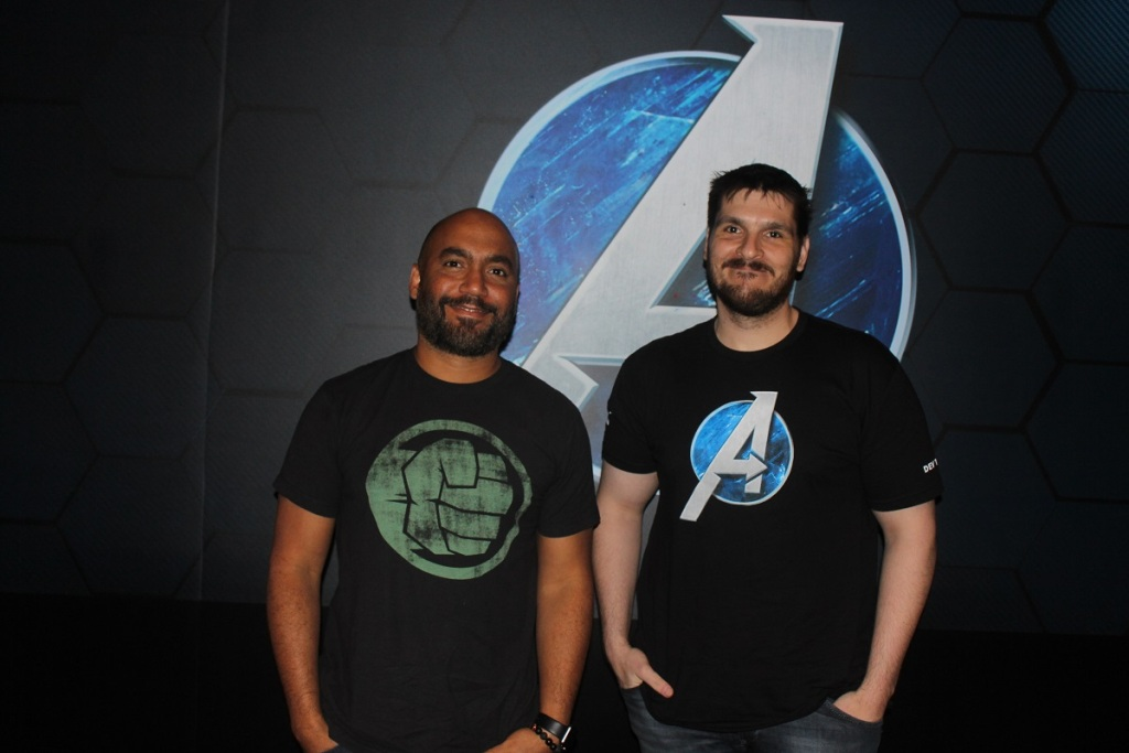 Vincent Napoli (left), lead combat designerShaun Escayg director