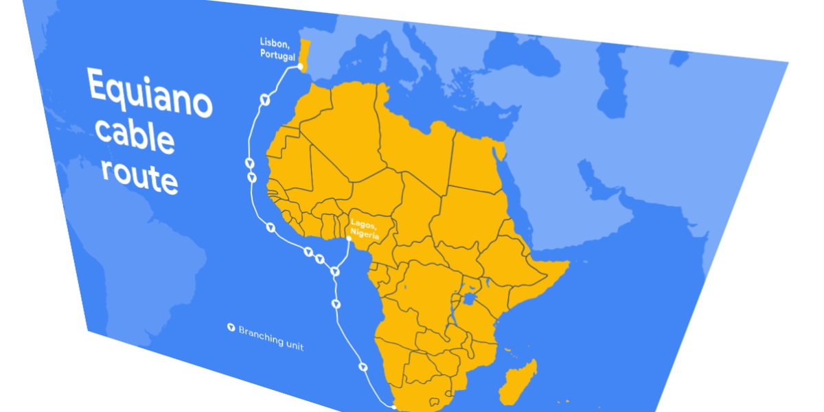 Google's Equiano subsea cable will run from Portugal to South Africa, with an additional touchpoint in Nigeria