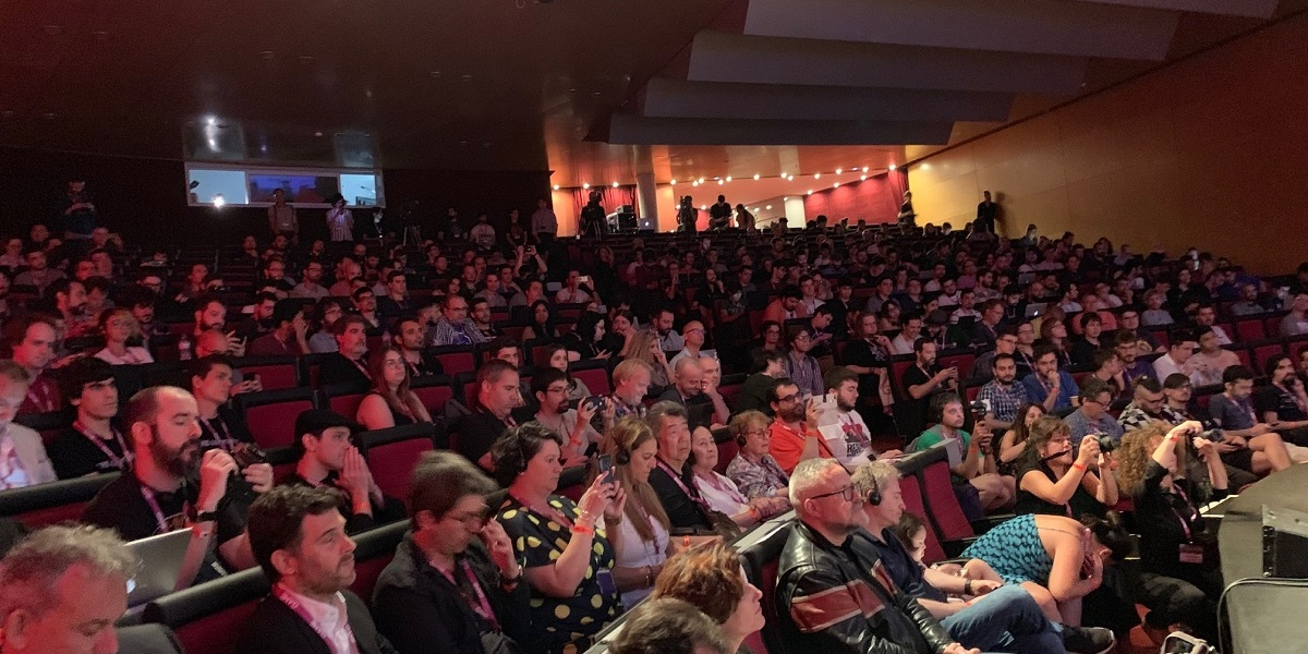 The crowd at Gamelab 2019.