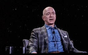 Amazon and Blue Origin CEO Jeff Bezos talks about space, the future of tech, and other topics at the Amazon re:Mars conference in Las Vegas