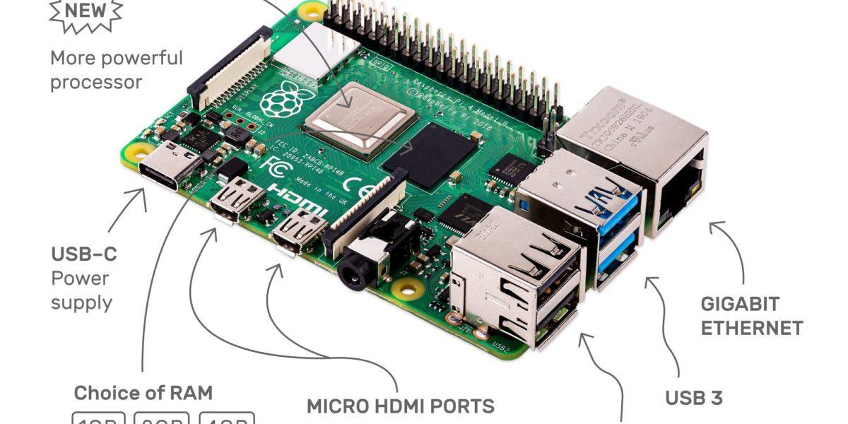 The Raspberry Pi 4.
