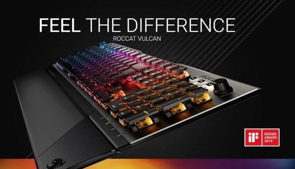 The Roccat Vulcan keyboard