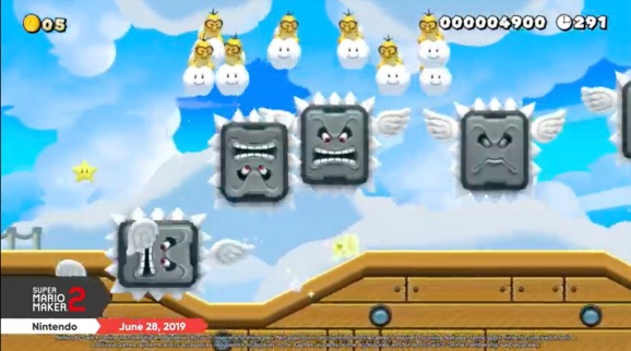 Super Mario Maker 2 in action.