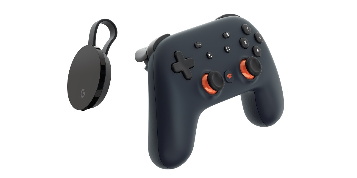Stadia controller and Chromecast Ultra. This is your game console.
