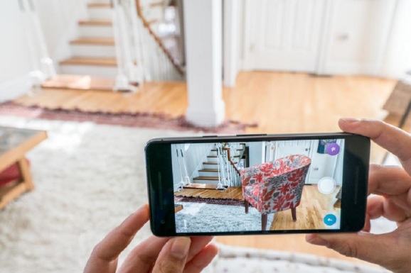 Wayfair app uses augmented reality.