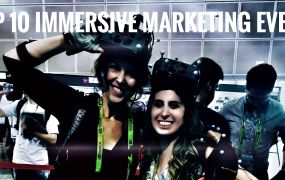 Lisa Peyton at one of her favorite immersive marketing events.