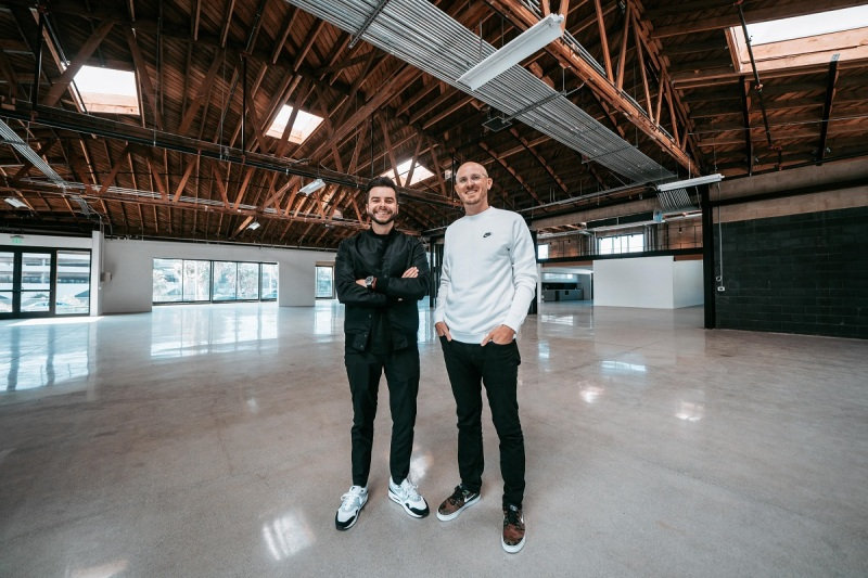 "100 Thieves' leaders: CEO Matthew ""Nadeshot"" Haag (left) and John Robinson, COO."