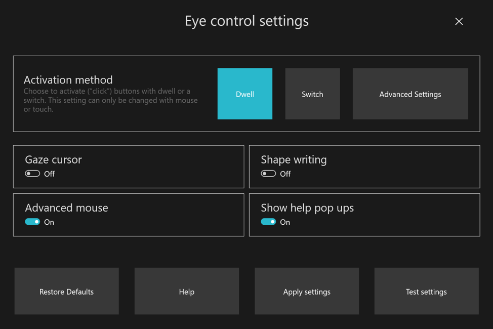 Microsoft releases new Windows 10 preview with Eye Control