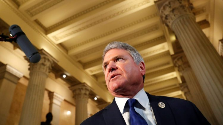 U.S. Representative Michael McCaul (R-TX), the Chairman of the Homeland Security Committee, speaks to the news media after attending a closed House Republican Conference meeting with the U.S. President Donald Trump among others at the U.S. Capitol in Washington, D.C., U.S., June 19, 2018.