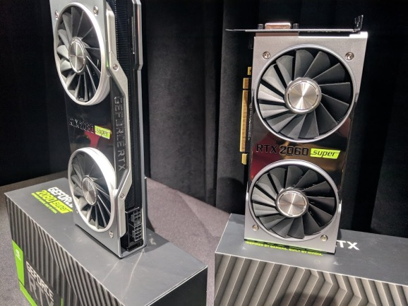 The RTX Super video cards from Nvidia at E3 2019.