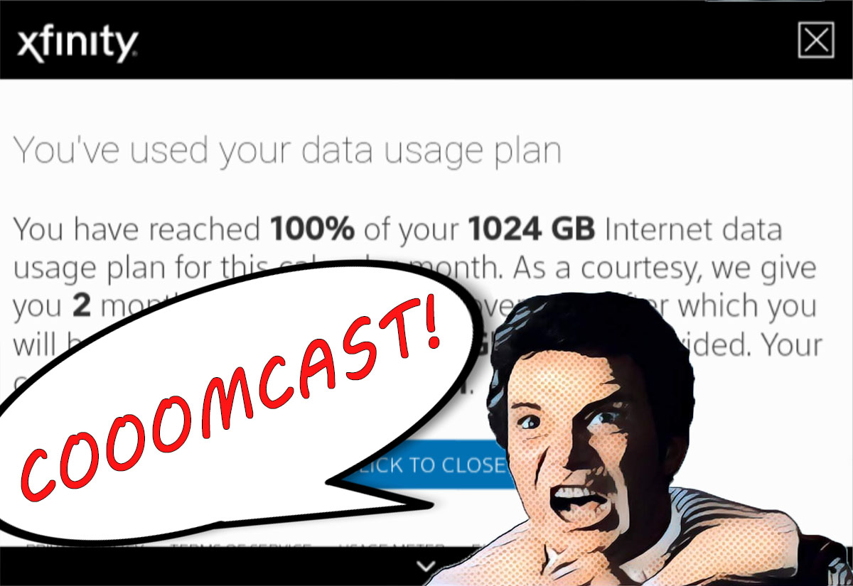 I'm trying to beat Comcast Xfinity's data cap -- even if it