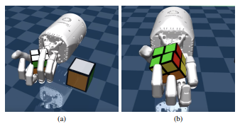 AI researchers test a robot's dexterity by handing it a Rubik's cube