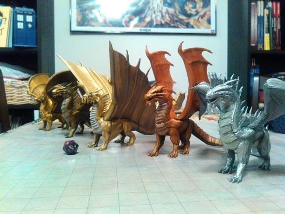 On the menu: Metallic Dragons-a-la-3D Printer