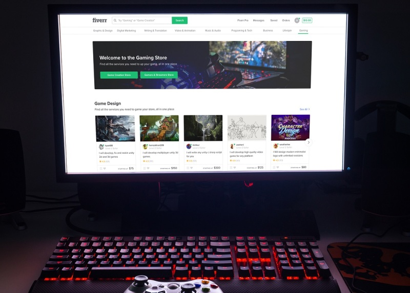 Fiverr's gaming store