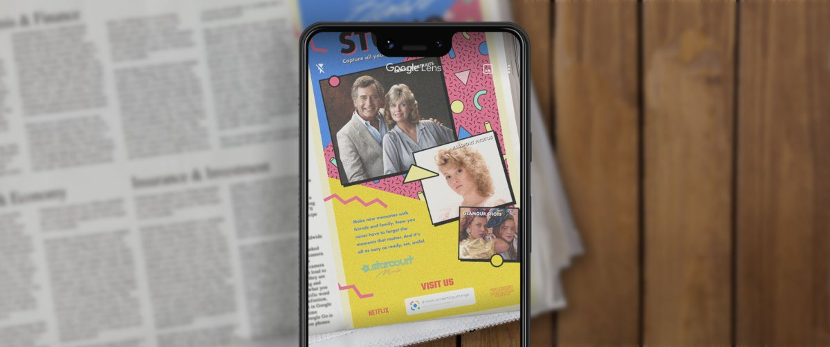 Netflix taps Google Lens to bring Stranger Things newspaper ad to life