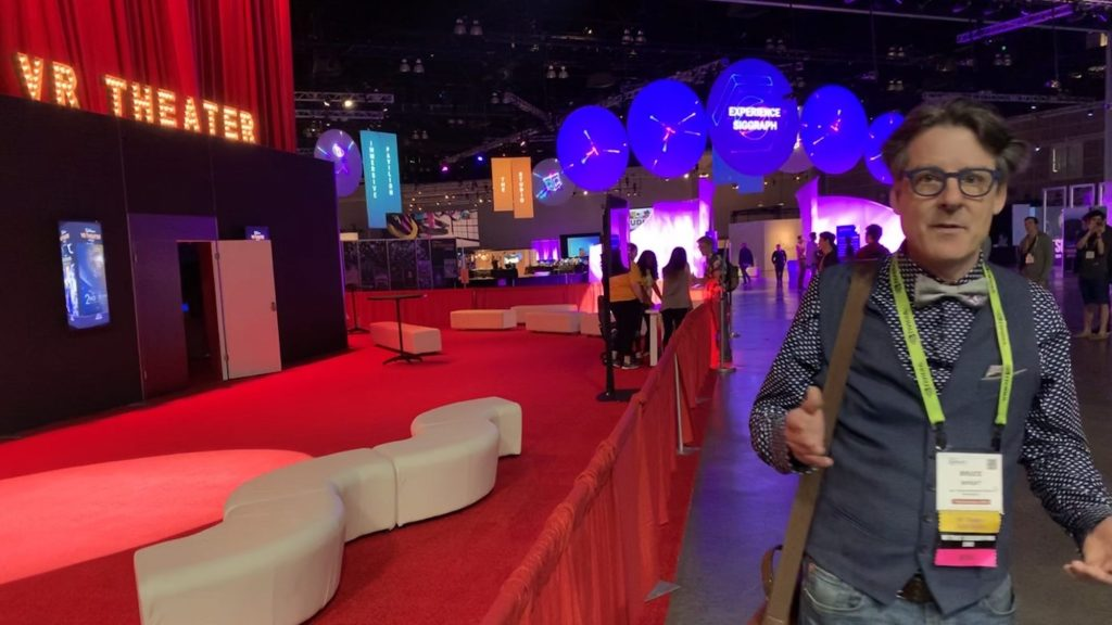 Disney's Bruce Wright welcomes guests to Siggraph 2019's VR Thre