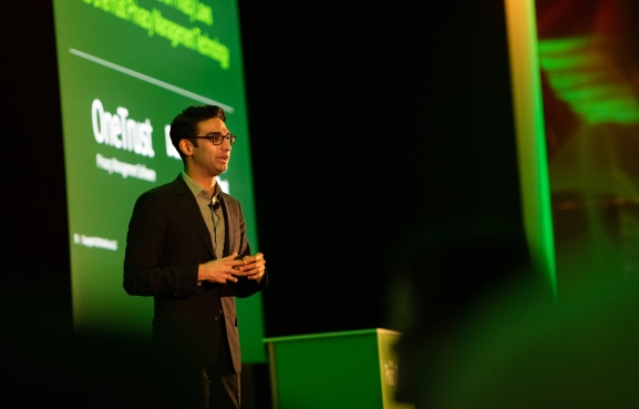 OneTrust CEO Kabir Bardaya speaking at PrivacyTech Event -
